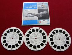 Vintage View Master Aviation Airplaine S French  Reels