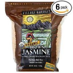 Village Harvest Organic Brown Thai Jasmine Rice, 30-Ounce Bags (Pack of 6) $31.42