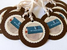 air mail tags!