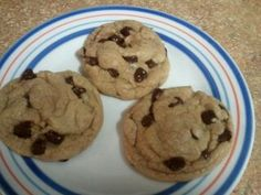 Puffy Peanut Butter Cookies with Chocolate Chips- mmm