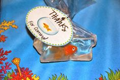Goldfish Soap-in-a-bag favor tutorial