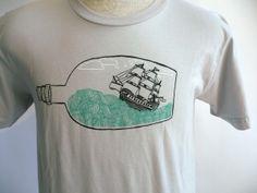 """Flytrap """"Ship In A Bottle"""" T-shirt $28.00"""