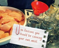 10 Reasons Why You Should Be Canning Your Own Meat http://thesurvivalmom.com/canning-your-own-meat/?utm_campaign=coschedule&utm_source=pinterest&utm_medium=The%20Survival%20Mom%20(Food%20Storage)&utm_content=10%20Reasons%20Why%20You%20Should%20Be%20Canning%20Your%20Own%20Meat