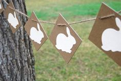 Perfect decorative garland for an outdoor Easter egg hunt!