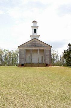 Antebellum Greek Revival Church, Lowndes County, Alabama.