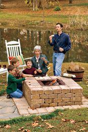 I like this one the best because it looks like it would keep the grandchildren back away from the fire better. I like how it makes a shelf around the pit to lay things on or for the kids to lean on while cooking something in the firs.