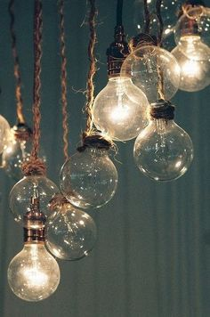 lights for our living room #diy #Industrial Design #industry design| http://industrial-design.mai.lemoncoin.org hanging lights, diy fashion, twine, home lighting, bubbles, lighting ideas, bulbs, porches, cords