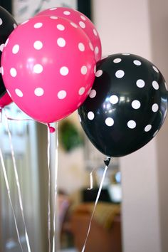 birthday bash, polka dot, minnie mouse balloon ideas, dot balloon, 2nd birthday, 1st birthdays, mous parti, birthday ideas