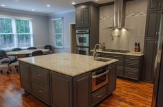 Islands on pinterest new construction chocolate glaze for Kitchen remodel knoxville tn