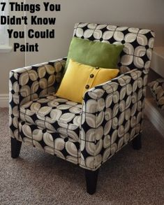 Upholstery paint and other fun things to paint. Love this.