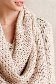 Super soft and cozy pointelle double cowl wrap #anthrofave http://rstyle.me/n/ryk2vnyg6