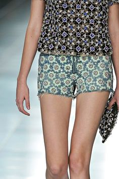 christopher kane spring 2012  studded shirt, shorts, and purse