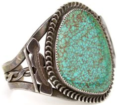 Old pawn Navajo bracelet sterling and turquoise,