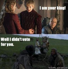Take that Monty Python logic, Joffrey!