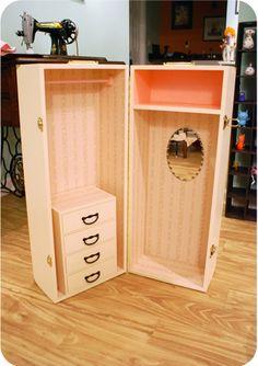 diy trunk doll storage