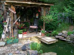 Mini dock and fish pond!