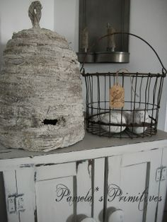 Our Pioneer Homestead: How I Make Bee Skeps...I Cheat!!