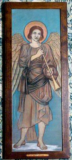 De Morgan, The Angel Gabriel, 1890 - 1899, Wightwick Manor, Wolverhampton.