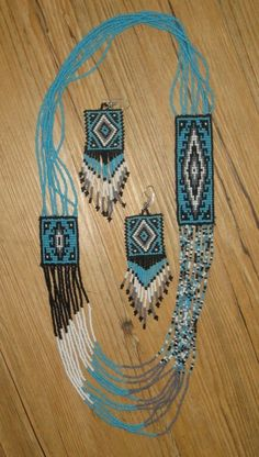 native american bead necklace - Google Search