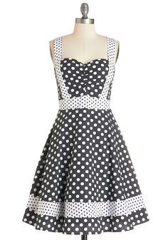 Patterns at Play Dress. Did someone say, adorable? #black #modcloth