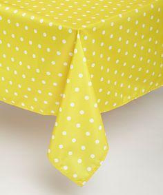 Yellow Polka Dots Tablecloth