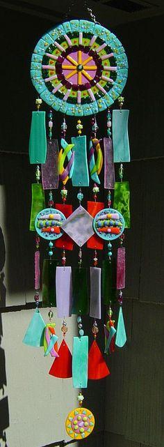Kirks Glass Art Windchimes