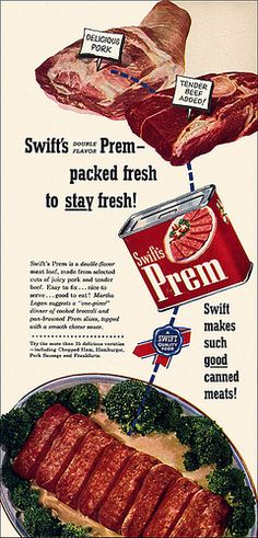 Prem Canned Meat Ad, 1952