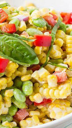 edamam salad, edamame corn salad, roasted corn and edamame salad