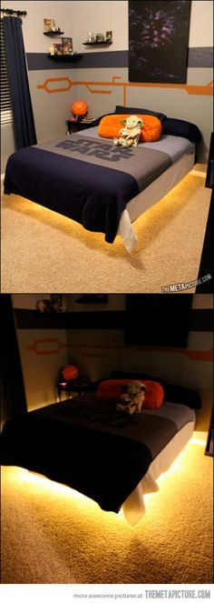 Star Wars Room Hovercraft bed... THIS IS AWESOME.