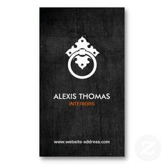 Customizable business card for interior designers