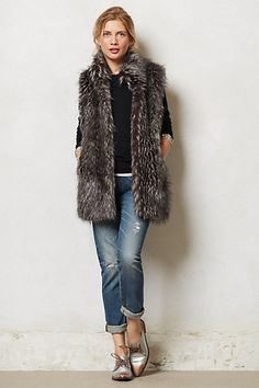 Vegan Fur Vest #anthropologie