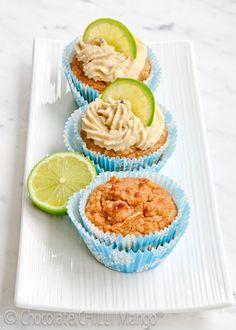 Coconut Lime Paleo Cupcakes #paleo #glutenfree