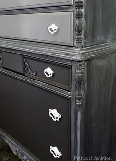 Painted Chest of Drawers gets Frosted with Glaze
