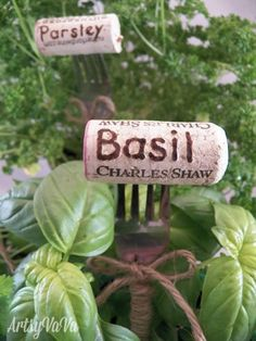 ID your plants with these cute repurposed wine cork tags.