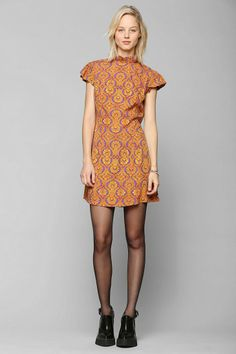 LENNI Damsel Ruffle Collar Dress #urbanoutfitters