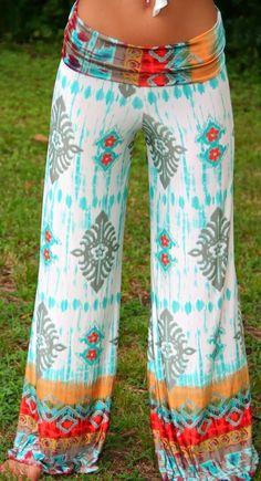 Lovely boho style palazzo pant fashion