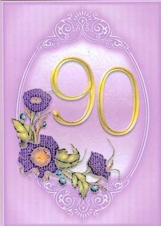 90th birthday card | Paulines Passions MISI Handmade Shop £1.50