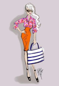 Style Sketches™ an orange skirt at The Style Confessions
