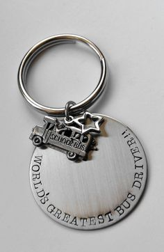 Bus Driver key chain  Bus Driver gift  School by LauriginalDesigns