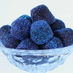 Hungry Happenings: Blueberry Gumdrops Recipe made with real blueberries