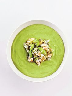 Avocado and Crab Soup Recipe | Epicurious.com #myplate #veggies #protein
