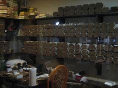 Humidors for cigar storage.