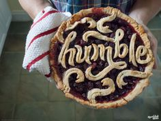 Humble Pie Type by Danielle Evans