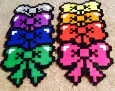 Perler bead bows by TheDankLodge on Etsy