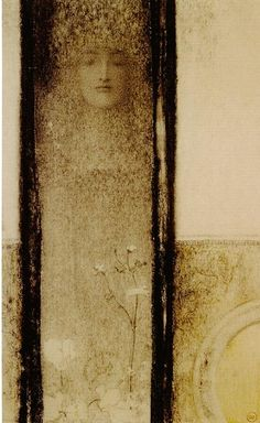 Fernand Khnopff pencil, 1909, symbolist, mysteri, paper, art, inspir, fernard khnopff, fernand khnopff