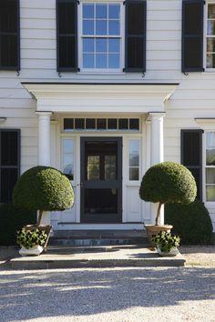 Salisbury, CT | Brooks and Falotico Associates Fairfield County Architects.       Storm door.