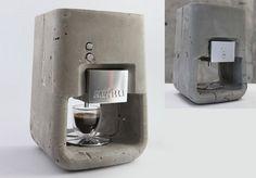 Concrete espresso machine / DesignVille.cz