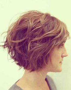 Side View of Messy Short Haircut for Thick Hair