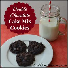 Double Chocolate Cake Mix Cookies... soft and delicious!  Kids will love them.