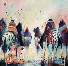 """Pause-High Noon"" #art #southwest #horses"
